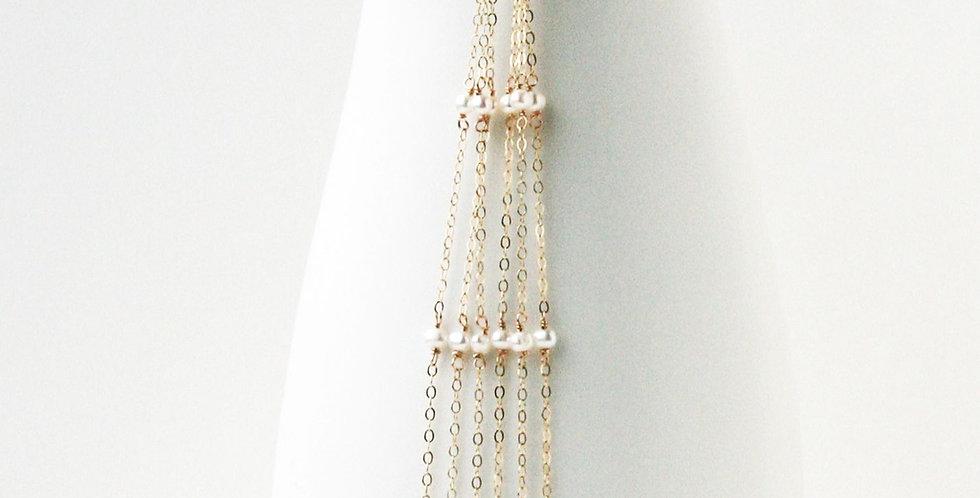 Pearl Shoulder Duster Earrings