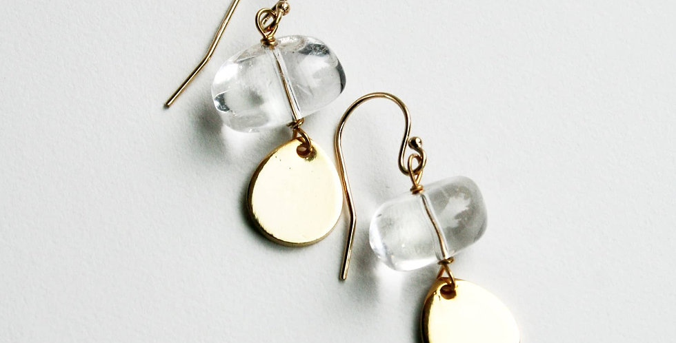 Crystal Petal Earrings