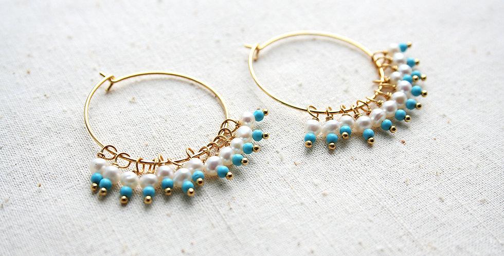 Turquoise Hoop Earrings | Laura Stark Designs