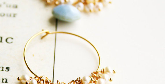 Blue Opal and Pearl Earrings | Laura Stark Designs