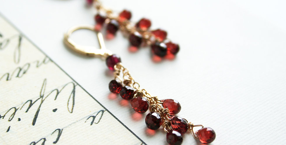 Garnet Drop Earrings | Laura Stark Designs