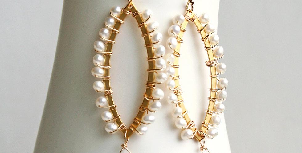Modern Bridal Earrings