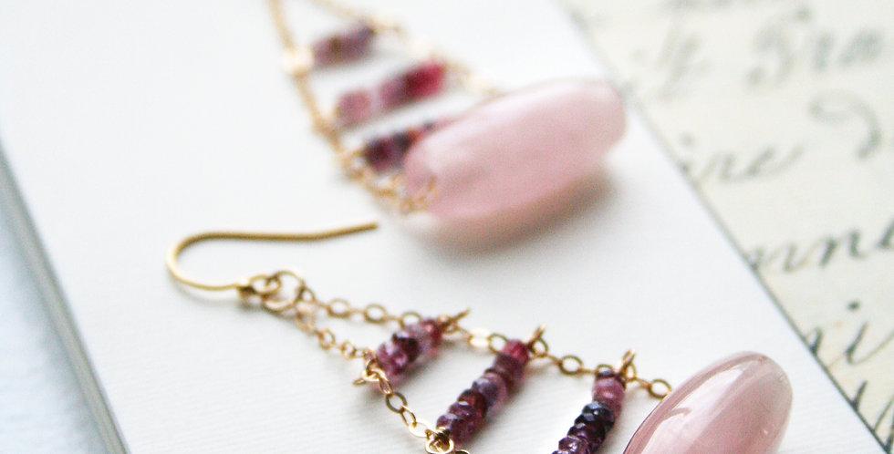 Pink Gemstone Earrings | Laura Stark Designs