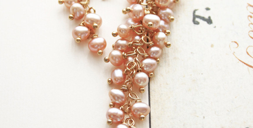 Pink Pearl Earrings | Laura Stark Designs