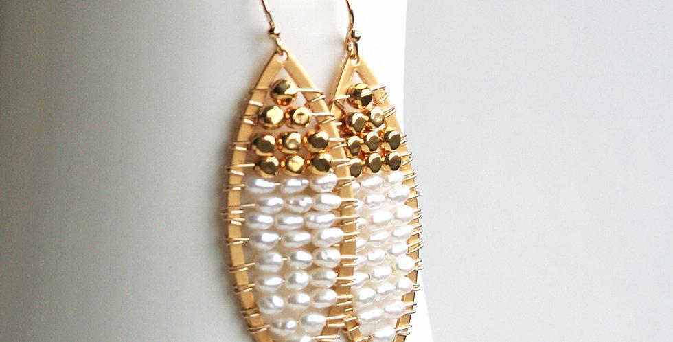 Pearl Gold Earrings | Laura Stark Designs