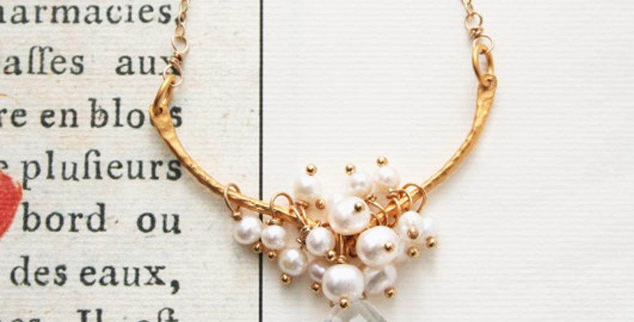 Quartz and Pearl Necklace | Laura Stark Designs