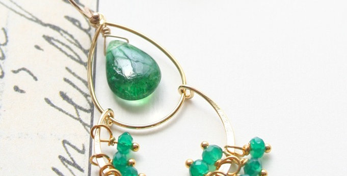 Emerald Chandelier Earrings