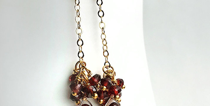 Long Garnet Earrings