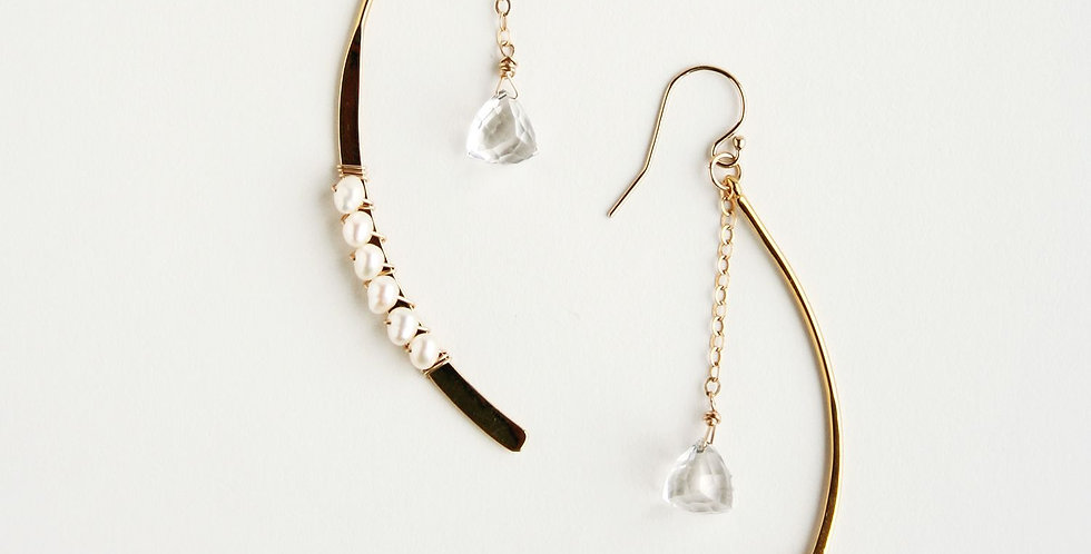 Arc Crystal Earrings