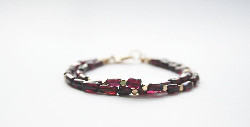 Double Garnet Bracelet | Laura Stark Designs