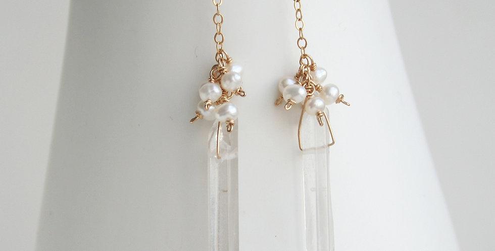 Long Crystal Earrings | Laura Stark Designs