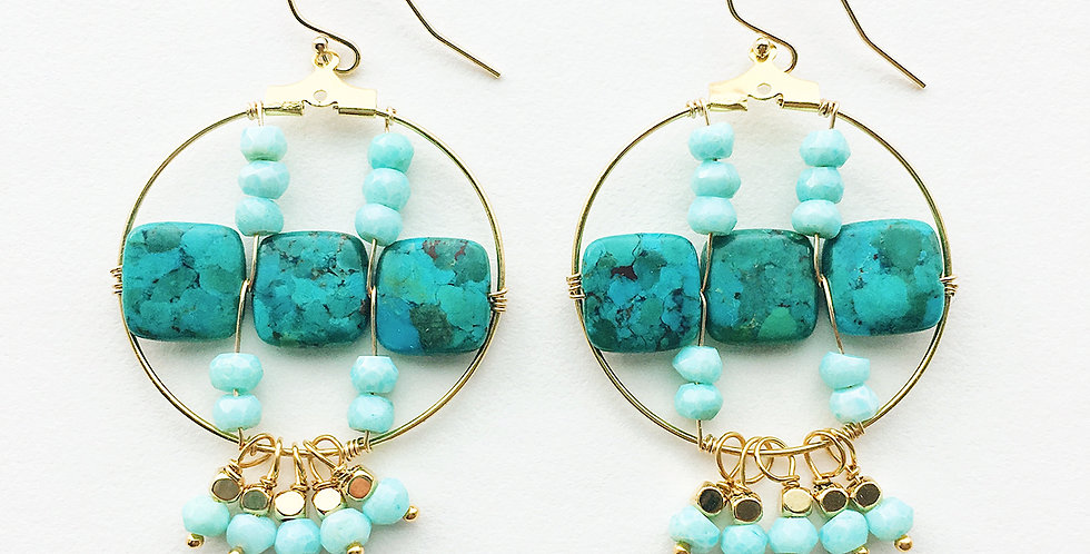 Turquoise Hoop Earrings | Laura Stark Designs