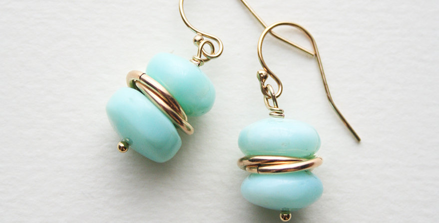 Peruvian Opal Earrings | Laura Stark Designs