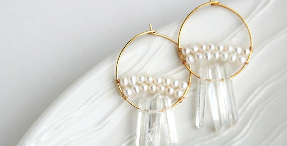 Crystal and Pearl Earrings | Laura Stark Designs