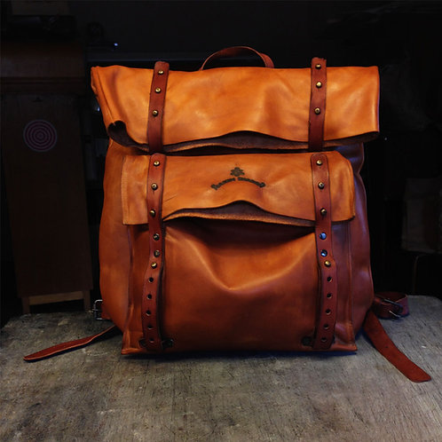 Кожаный ранец Maxim Sharov BP-003