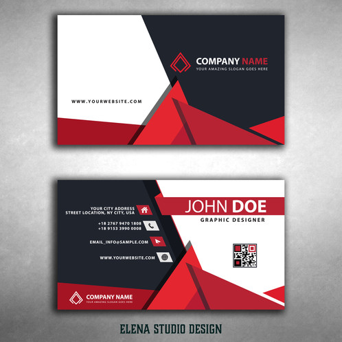 Orizontal business cards elenastudiodesign business cards are vector based built in illustrator software they are fully editable and scalable without losing resolution improve your visibility colourmoves