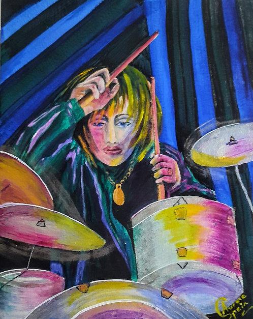Street musicians: Drummer