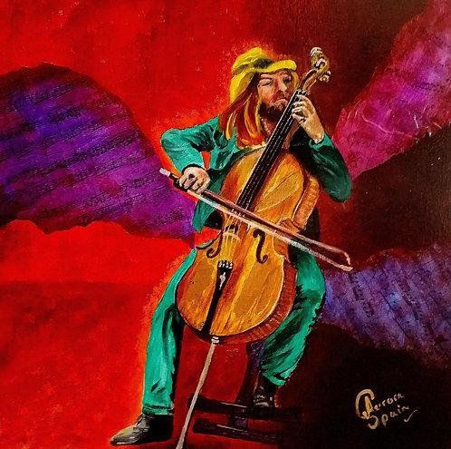 Street musician: Cellist