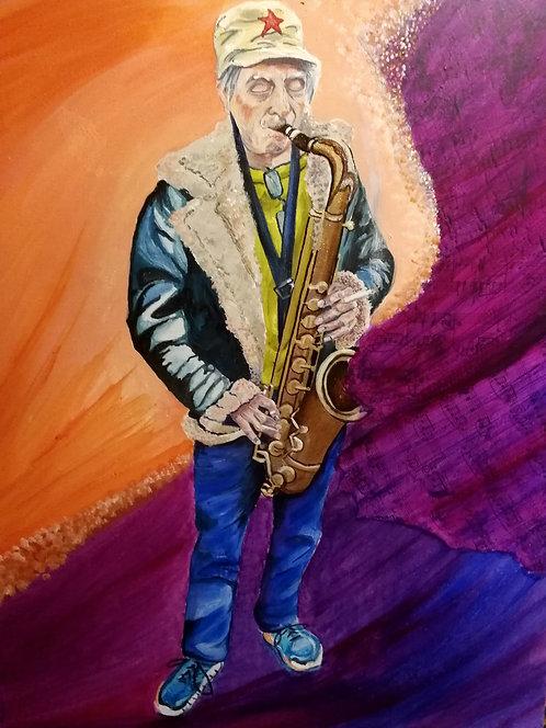 Street musicians: Saxophonist (Spike)