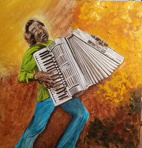 Street musicians: Accordionist