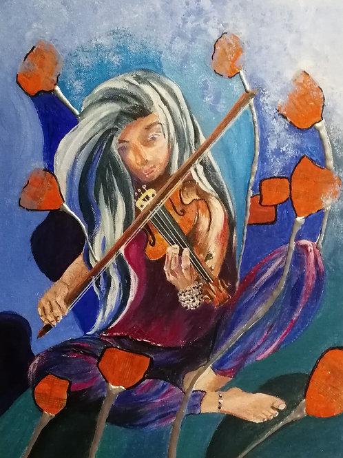 Street musicians: Violinist