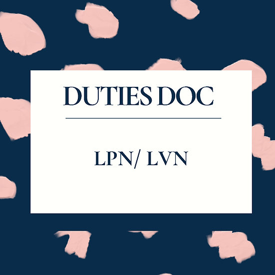 LPN/LVN Duties Doc