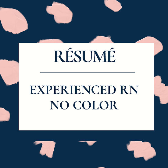Experienced RN Résumé Template-No Color