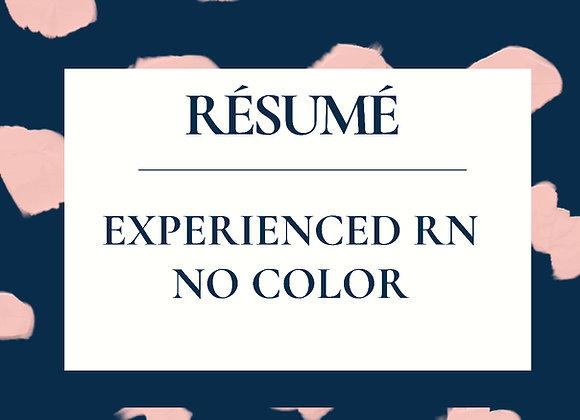 Experienced RN Résumé Template-No Color