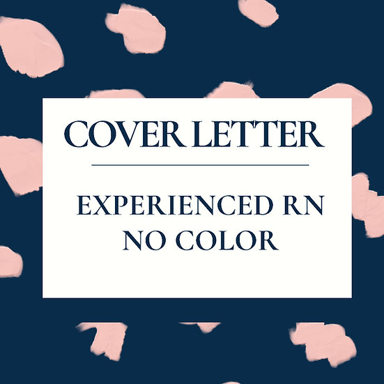 Experienced RN/ APRN Cover Letter Template- No Color
