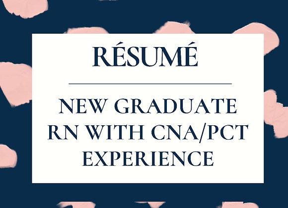 New Graduate with CNA/Extern Experience ReNegade Résumé Template