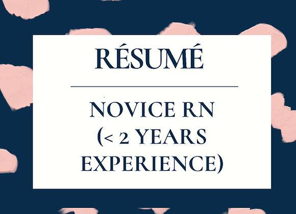Novice RN ReNegade Résumé Template