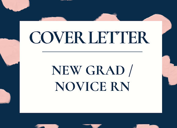 New Graduate RN Cover Letter Template