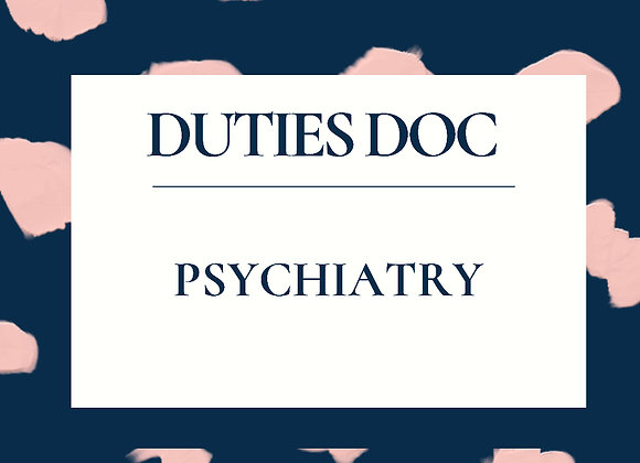 Psychiatry RN Duties Doc