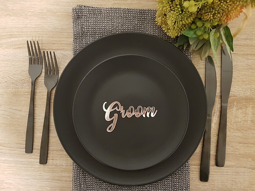 Silver Mirror Acrylic Wedding/Party Place Settings