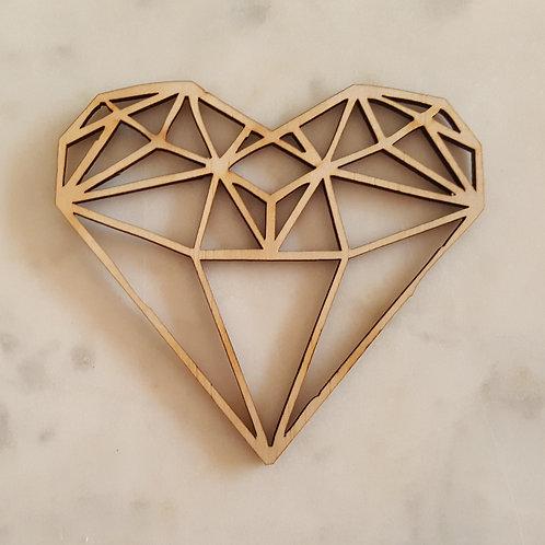 Geometric Heart Cake Topper