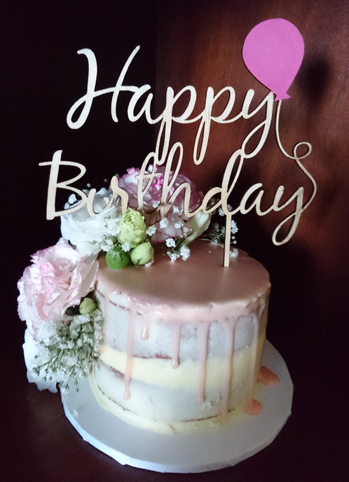 Happy Birthday Balloon Cake Topper Art On Point Laser Cut Art