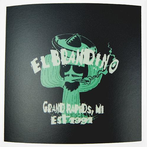 El Brandino - Sticker - Black