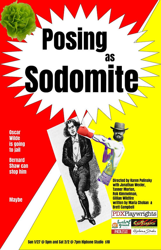 Posing As Sodomite poster with hipbone l