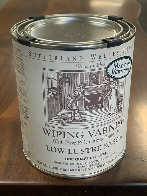 Wipe on varnish low luster