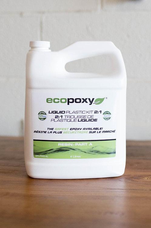 Ecopoxy Liquid Plastic Kit 2:1