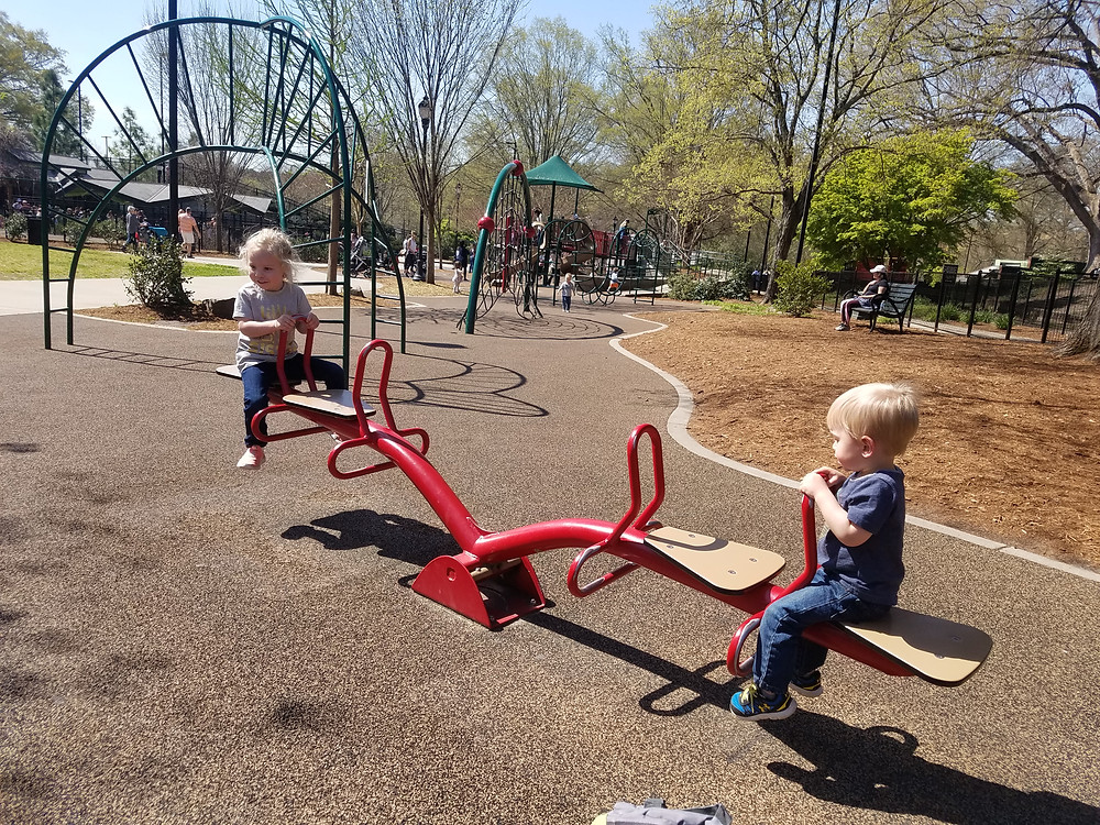 Seesaw at Pullen Park