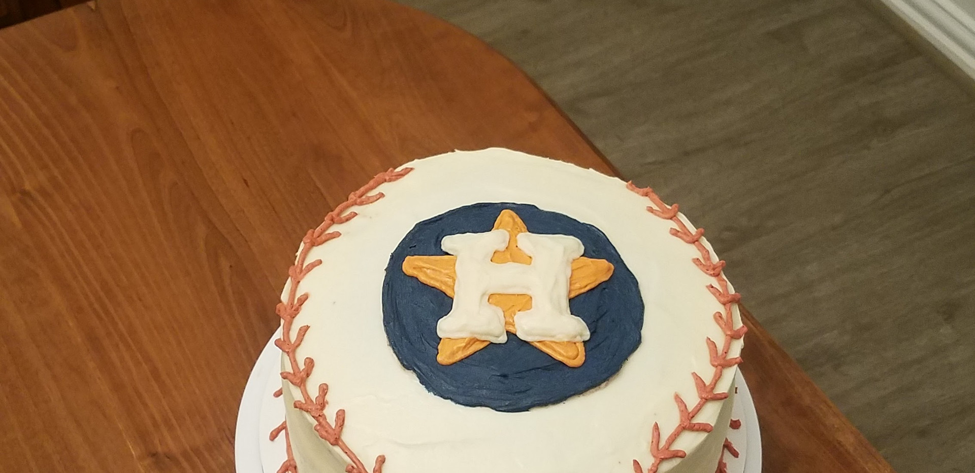 Astros Cake- Red Velvet with Cream Cheese Icing