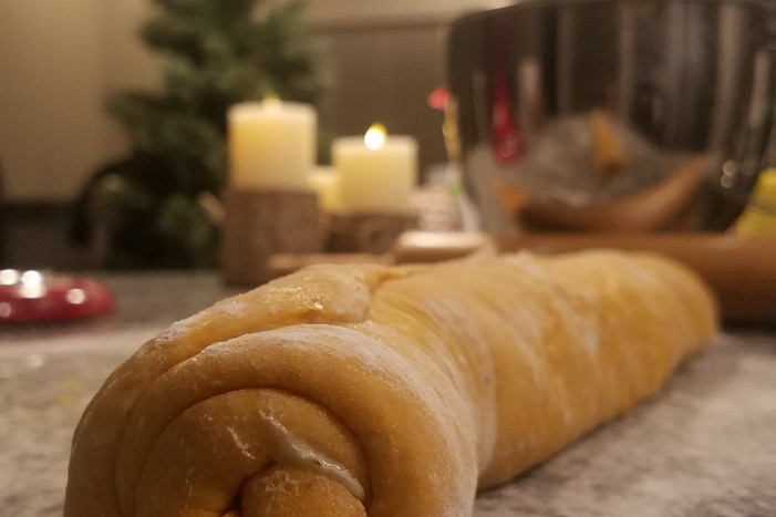 Cinnamon Roll Prep!