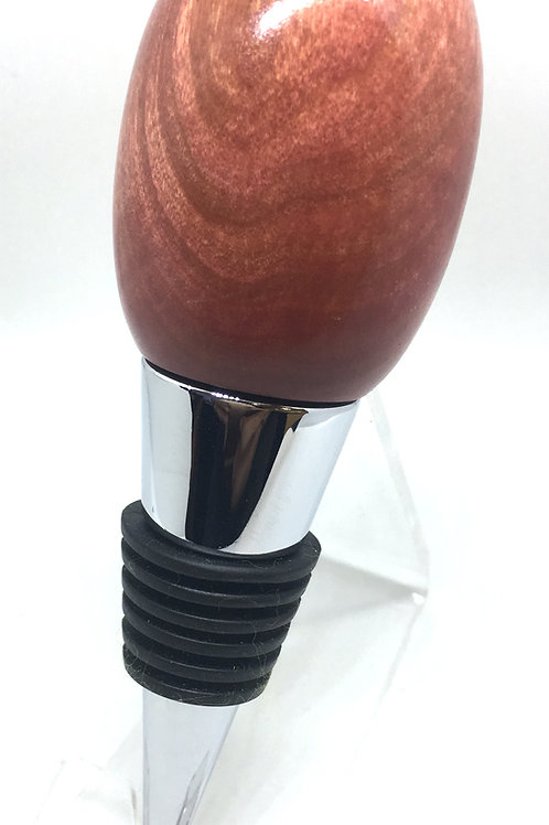 Chrome stopper in Pink Ivory wood