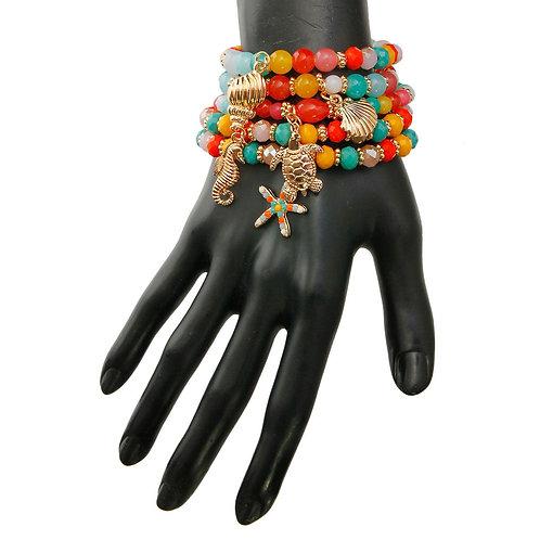Sea Life Charm Bracelet Set