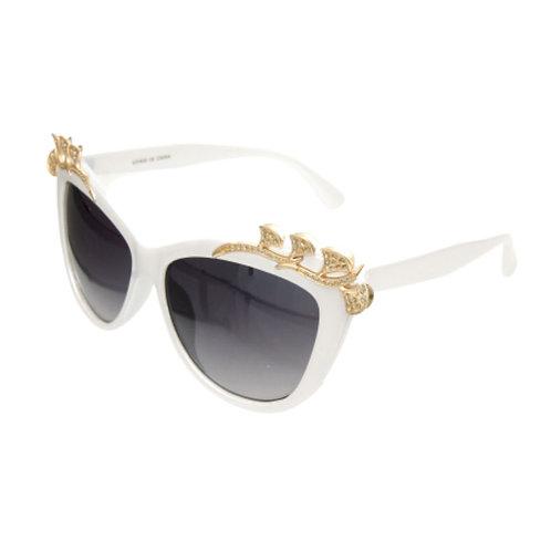 Holly Golightly Rhinestone Leaf Sunglasses