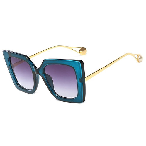 Savage Oversize Pearl Temple Sunglasses