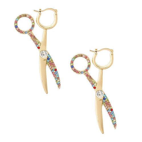 Cut'N'Up Scissor Hoop Earrings