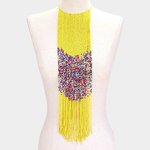 Sunkissed Long Beaded Fringe Necklace
