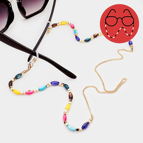 Kaleidoscope Bead Eyeglasses Chain
